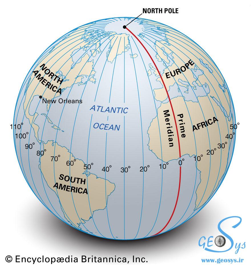 طول جغرافیایی (Longitude)